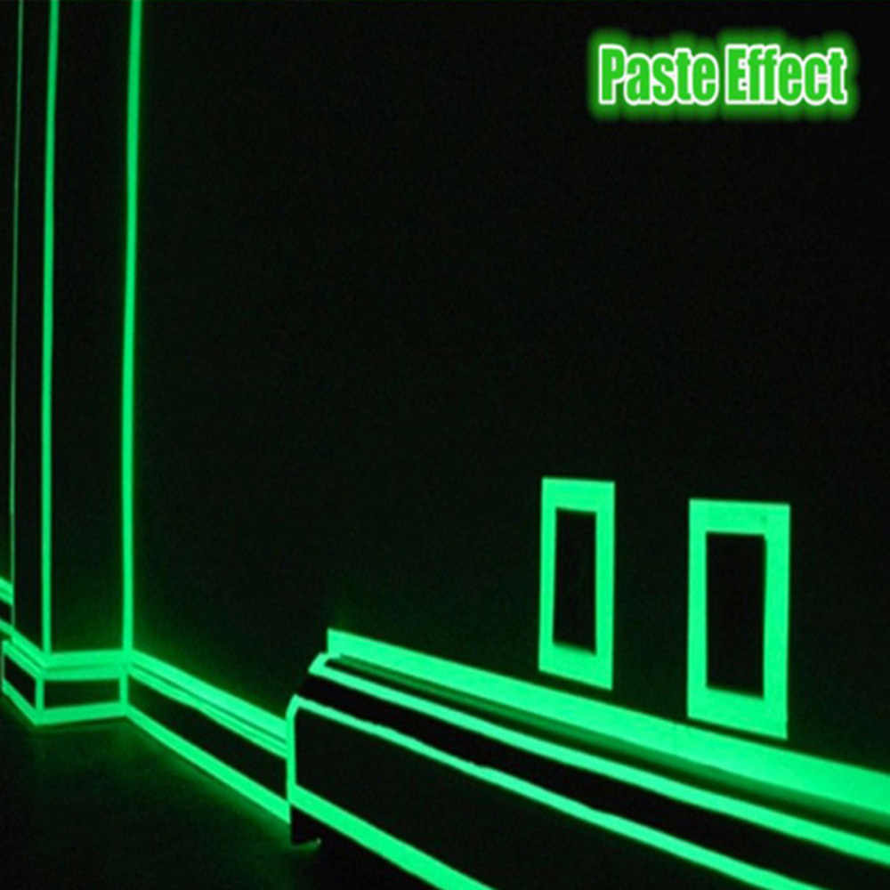 1.5 Centimetri * 3 M Luminoso Fluorescente Notte di Auto-Adesivo Glow in The Dark Autoadesivo Nastro di Sicurezza Home Security decorazione di Nastro di Avvertimento