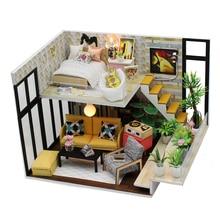 NFSTRIKE DIY креативный ручной работы Тема деревянная кабина Diy Сборка строительный дом модель игрушка набор с светильник и музыка-праздник