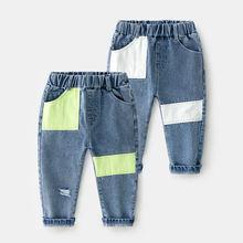 Новые детские рваные повседневные джинсы для мальчиков модные
