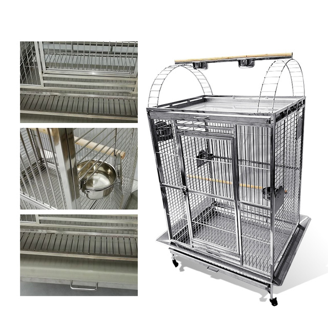 Stainless Steel Parrot Cage 40''*30''*67'' 2