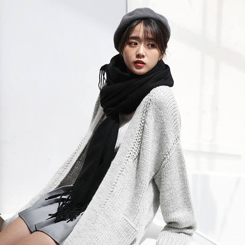 2019 Autumn Winter Female Wool Scarf Soft Women Cashmere Scarves Wide Lattices Long Shawl Wrap Blanket Lady Warm Tippet New