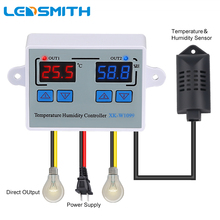 Dual Digitale Temperatuur Vochtigheid Controller Thuis Koelkast Thermostaat Humidistaat Thermometer Hygrometer XK W1099 DC12V AC220V