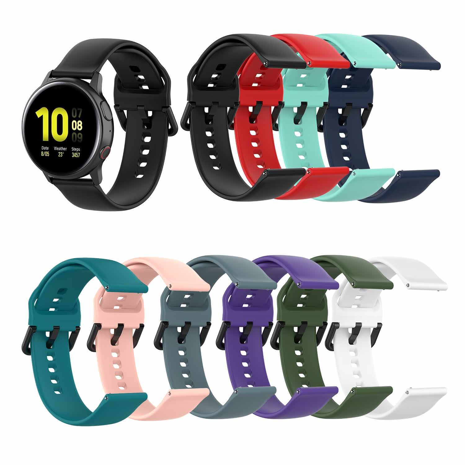 42mm Sport Band Strap Band For Samsung Galaxy Watch Active/active 2 Replacement Wristband Strap For Silicone Bracelet Watchband