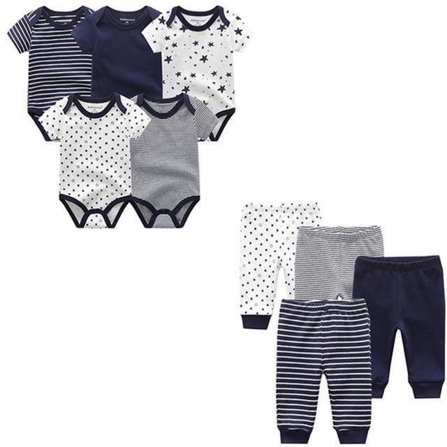 9 adet/grup yenidoğan bebek giysileri setleri % 100% pamuk tulum + pantolon bebek tulum kız giyim pantolon Ropa Bebe yürümeye başlayan giyim setleri
