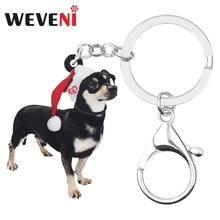 Men/'s jewellery Handmade. Keyring Chihuahua long haired keychain with box for dog lovers Photo jewellery
