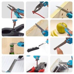 Image 4 - NEWACALOX Outdoor Multitool szczypce naprawa scyzoryk składany zestaw wkrętaków ręczne narzędzie wielofunkcyjne Mini składany kieszonkowy przenośny wędkarski