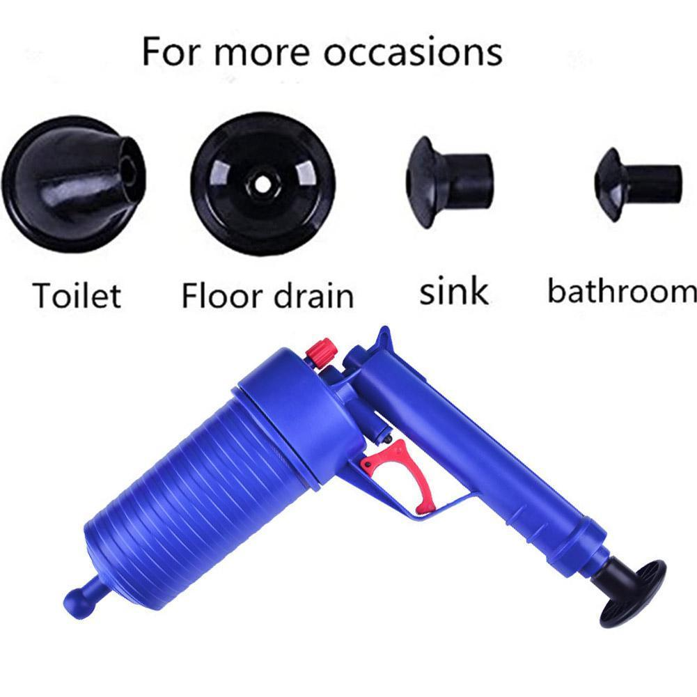Air Power Drain Blaster Gun High-pressure Powerful Remover Plunger Sink Dredger Toilets Manual Pipe Clog Kitchen Bath Tool F5I9