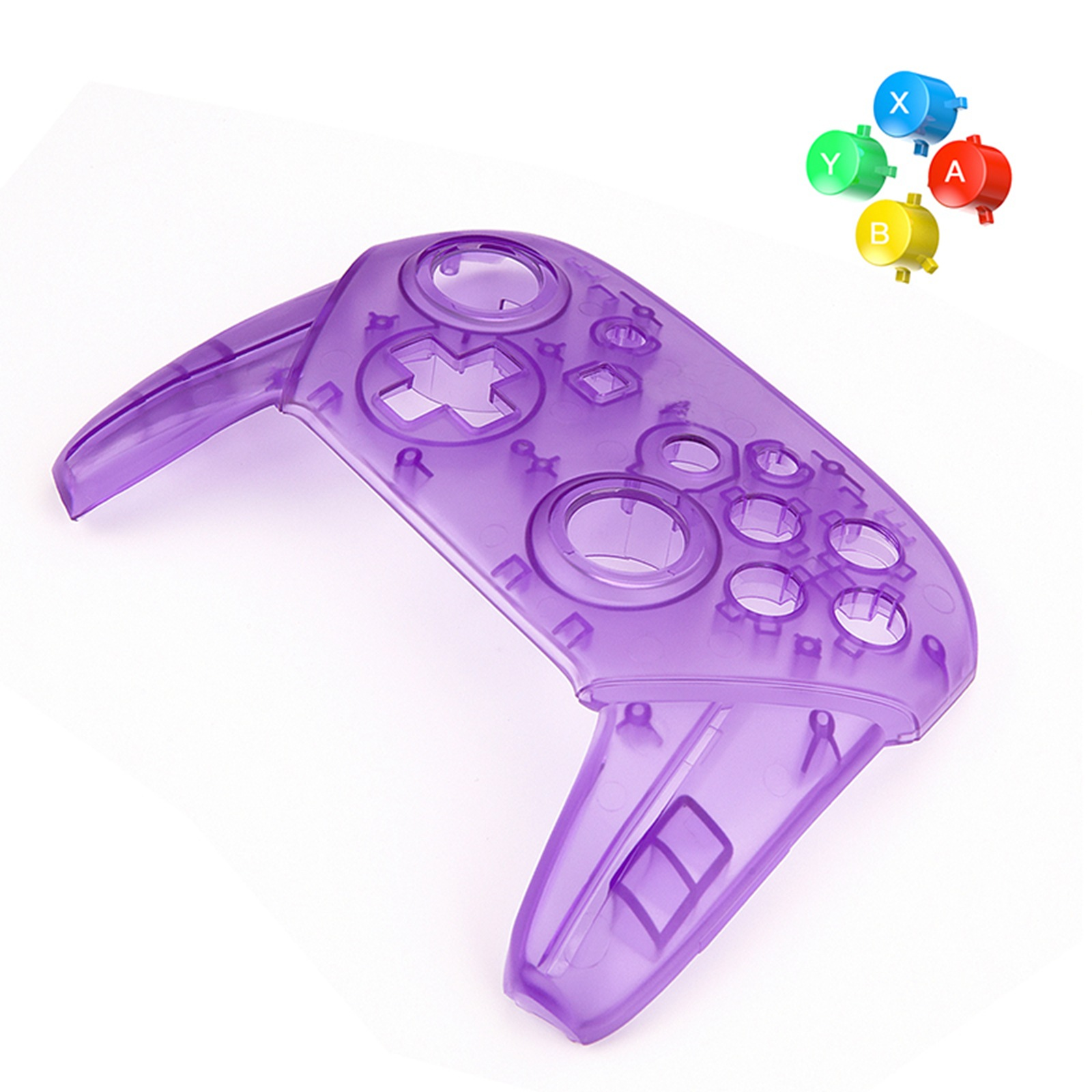 For Nintendo Switch Pro Controller Replaceable Transparent Shell DIY Modified Shell Third Party Replacement Buttons Handle Cover-in Replacement Parts & Accessories from Consumer Electronics