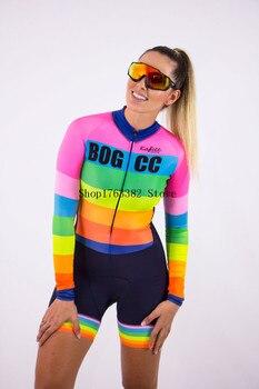 Triathlon skinsuit verão esportes das mulheres manga longa conjunto camisa de ciclismo macacão roupa feminina uniforme 2020 8