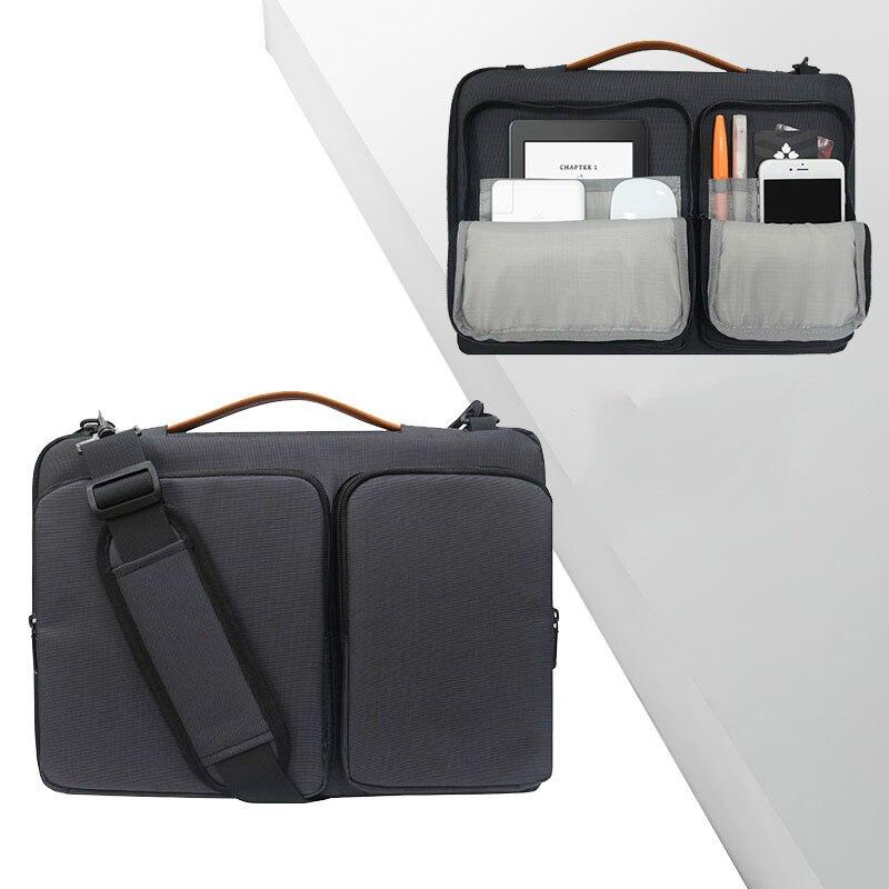 Business Men Briefcases Bag Men's Laptop Case 15.6 Waterproof Nylon Bag For Male Briefcases Document Bags Men 14 Inch Pc Pocket