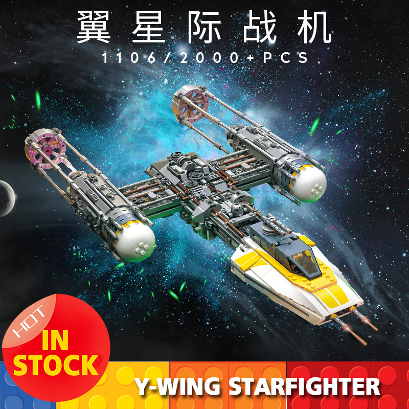 Movie Star War Y-wingED Fighter Classic Model Kids Toys Compatible 75181 05143 Building Blocks toys birthday Educational Gifts