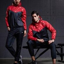VANSYDICAL мужской костюм для сауны, комплект одежды для спортзала, пуловер, спортивная одежда для бега, фитнеса, потери веса, потливость, спортив...