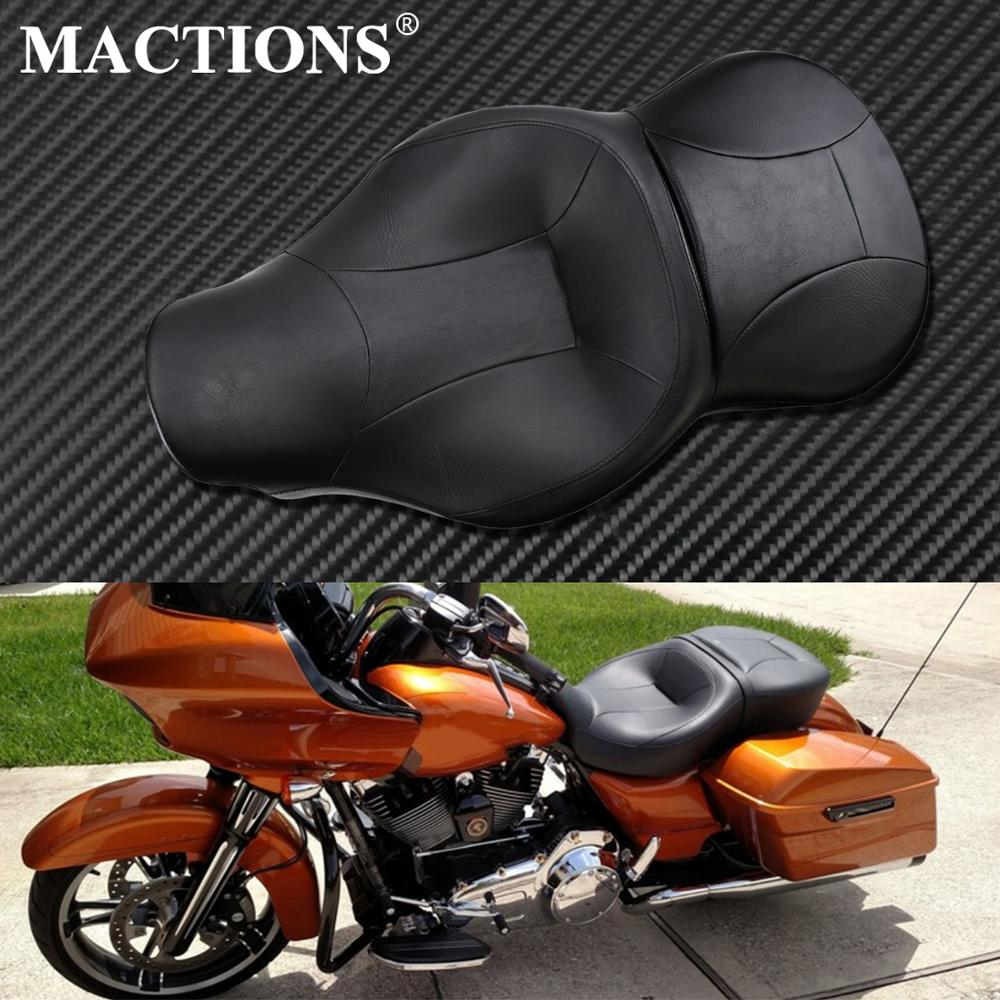 Adjustable Driver Rider Backrest For Harley Touring 09-18 Street Electra Road King Glide