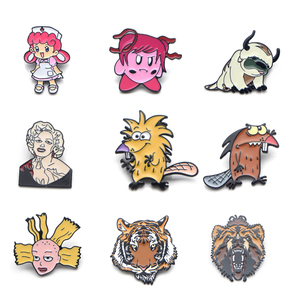 V104 The beaver and Cynthia Metal Enamel Pins and Brooches Fashion Lapel Pin Backpack Bags Badge Collection Gifts 1pcs