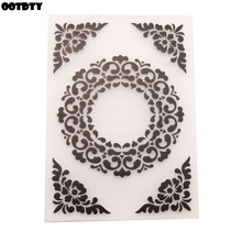 Round Flower Plastic Embossing Folder Template DIY Scrapbook Photo Album Card Making Decoration Handmade Crafts