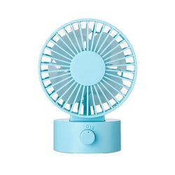Mini wentylator 2 prędkości chłodzenia regulowany podwójne silniki pulpit  usb wentylator do biura domu snu dziecka lato przenośne wentylatory (niebieski) w Wentylatory od AGD na