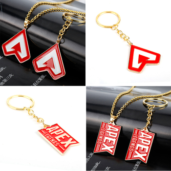 Hot Game Apex Legends Keychains Keyrings Red Letter Hero Logo Enamel Metal Pendant Keychains Fashion Jewelry Gift For Women/Men 1