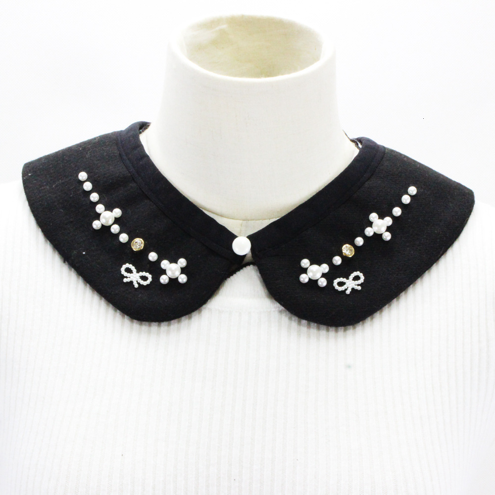 Woolen Nail Pearl Dickie Nail Drill Sweater Decoration Lead Fake Collar Detachable New Free Shipping Necklace Shirt Women