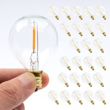 25 PCS G40 Globe LED Replacement Bulbs 0.6W  220V~110V Warm White 2700K LED Lamp Replace For Home Garden Incandescent Bulb