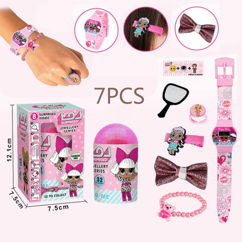 LOL Surprise Doll Children Gift Jewelry Toys Demolition Egg Toys Watch Hair Accessories with Doll Toys Blind Box Girl Gifts 2C53