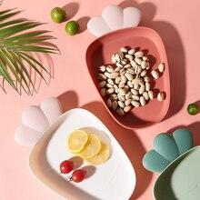 Креативная тарелка для сушеных фруктов ананас формочка для конфет тарелки для закусок Миска пластиковая Конфетница десертные подносы для хранения декоративная столовая посуда