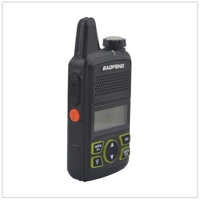 2pieces baofeng bf-t1 Walkie Talkie UHF 400-470MHz 20CH 1W Mini pocket Portable Ham FM radio with Earpiece 1