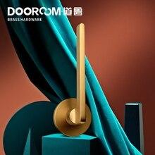 Dooroom pirinç kapı kolu dilsiz siyah altın iç yatak odası banyo ahşap kapı kilit seti kukla kolu topuzu