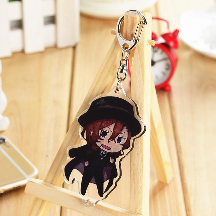 Anime Bungou Stray Dogs Edogawa Ranpo Tanizaki Junichiro Tanizaki Naomi Acrylic Keyring Pendant Bag Phone Pendant Gift