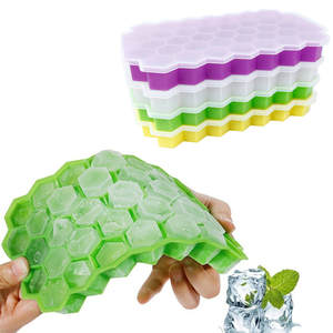 Tray Containers Ice-Cube-Mold Storage Drinks-Molds Honeycomb-Shape 37 Cubes Home Kitchen