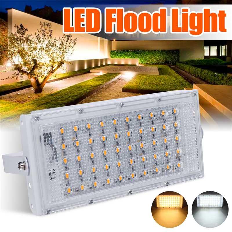 LED Flood Light 50W DC12V Floodlight Street Lamp IP65 Waterproof Outdoor Wall Reflector Lighting Garden Square Spotlight