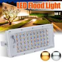 Led 홍수 빛 50 w dc12v 투광 조명 거리 램프 ip65 방수 야외 벽 반사판 조명 정원 광장 스포트 라이트