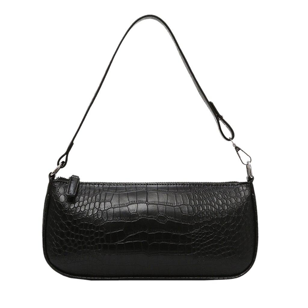 Pure Color Retro Women Bag Messenger Bag Ladies Casual Shoulder Bag Commuter Bag Baguette Bags Handbags Femme Sac Borse Commuter