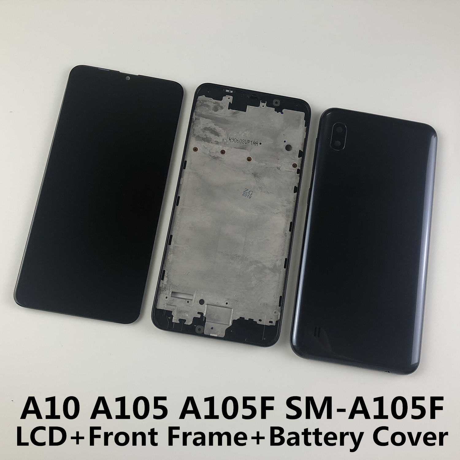 For <font><b>SAMSUNG</b></font> Galaxy A10 A105 A105F SM-A105F <font><b>LCD</b></font> Display Touch Screen Digitizer+Housing Front Frame Battery Back Cover image