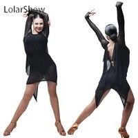 Stylish Latin Dance Dress Short Split Dance Skirt Salsa Dress Latin For Sale