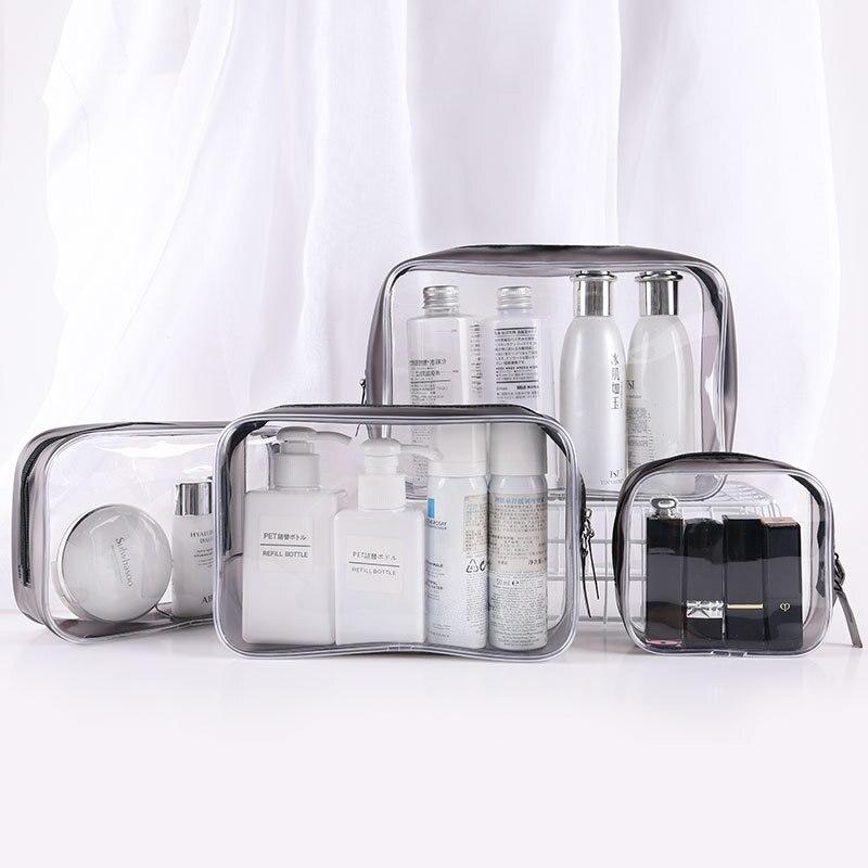 ПВХ женские прозрачные косметички на молнии, косметичка для макияжа, органайзер для макияжа, косметичка для ванной, прозрачный