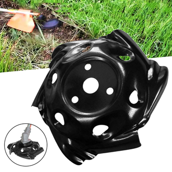 Tray Trimmer Head Grass Mowing Metal Lawnmower Head Lawn Mower Part Replacement for Garden Mower Weeding Tool Black