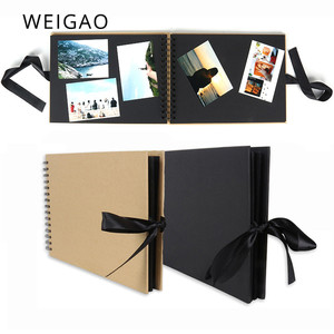 WEIGAO 40Pages Photo Albums Scrapbook Photoalbum Scrapbooking Picture Album DIY Craft Paper Photoalbums Memory Photograph Albums(China)