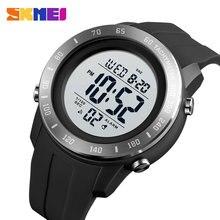 SKMEI büyük arama spor erkekler İzle 2 süresi LED dijital kol saatleri erkek su geçirmez Chrono geri sayım erkek saat montre homme 1524