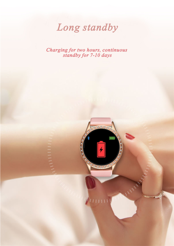 Reloj inteligente LIGE para mujer con monitor, seguidor Fitness de frecuencia cardíaca y presión arterial 13