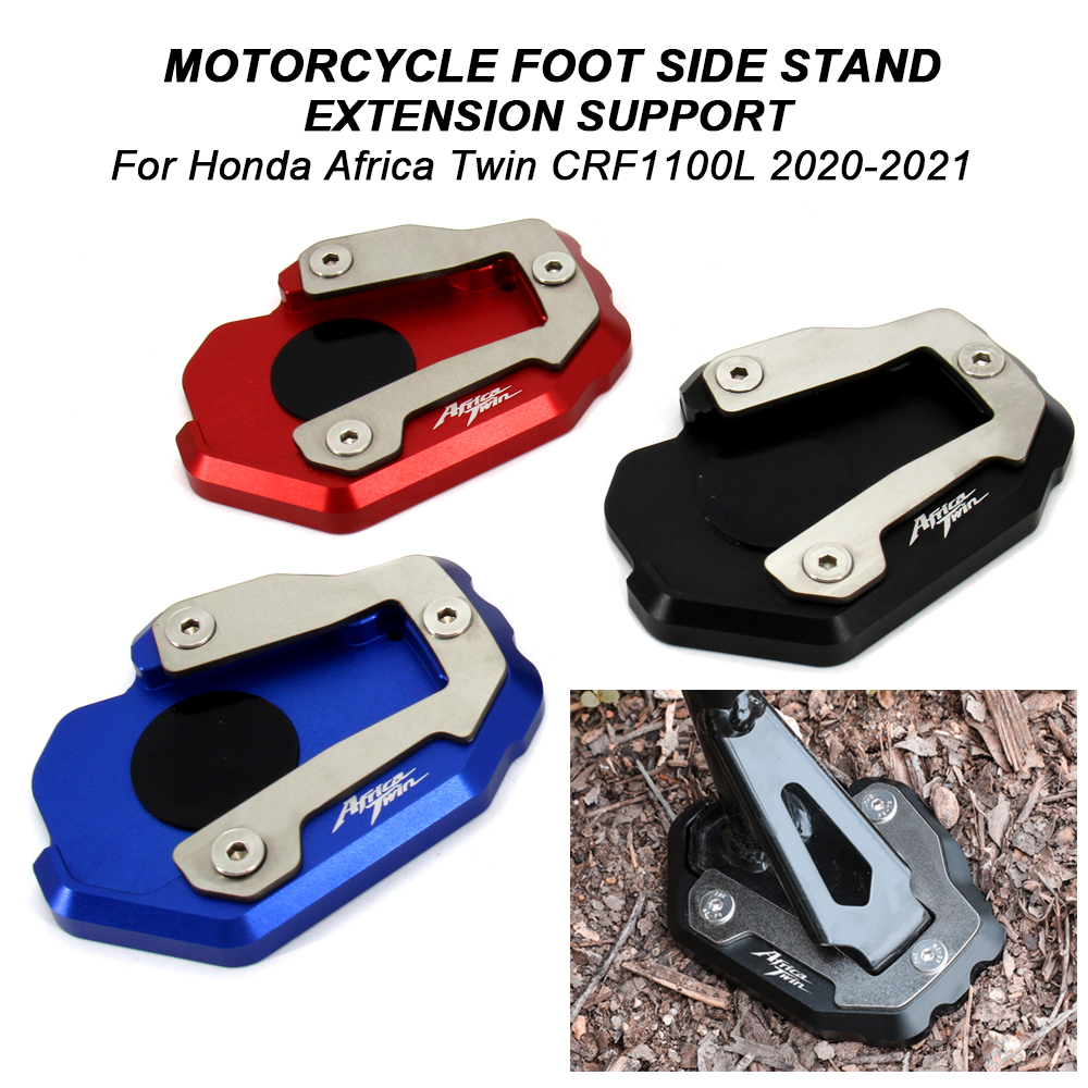 waase Motorcycle Kickstand Foot Side Stand Extension Pad Support Plate For BMW G310R 2017 2018 Blue