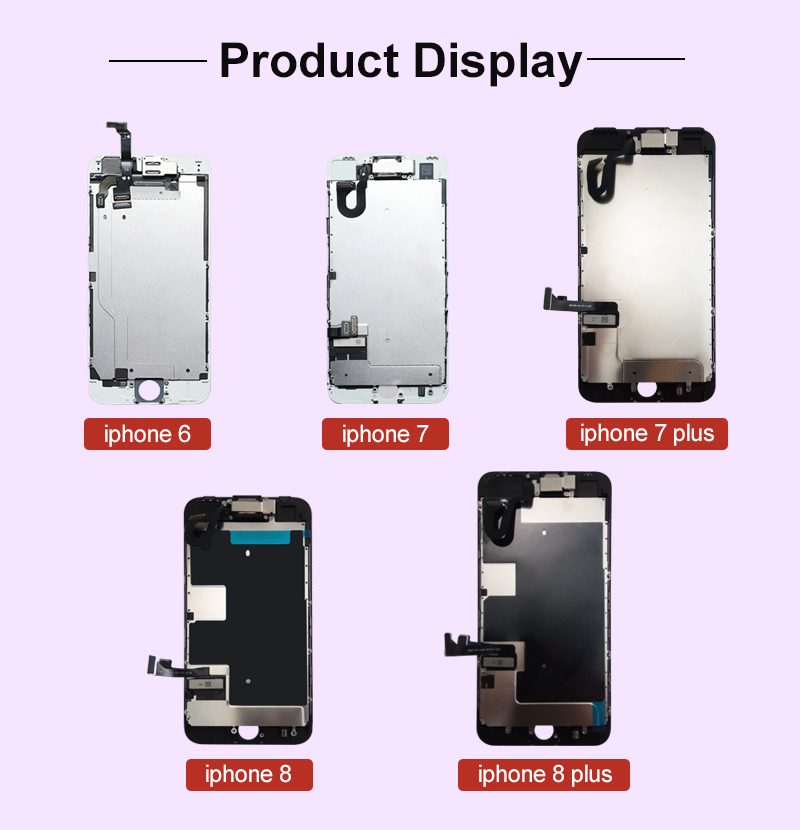 Image 3 - Класс AAA + + + экран для iPhone 6 6S Plus ЖК дигитайзер полная сборка для iPhone 7 дисплей для Apple с камерой ушной динамикЭкраны для мобильных телефонов   -