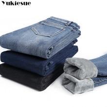 Winter Thick Plus Velvet Women High Waist Skinny Jeans Simple Fleece Warm Slim fit Stretch Ladies Casual Denim Pencil Pants