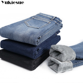 Winter Thick Plus Velvet Women High Waist Skinny Jeans Simple Fleece Warm Slim fit Stretch Ladies Casual Denim Pencil Pants