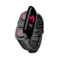 M1 mais novo monitor de freqüência cardíaca dos homens relógio inteligente com bluetooth fone de ouvido fitness rastreador pressão arterial smartwatch para ios android      -