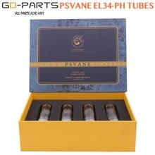 GD-PARTS 4 pçs psvane el34ph tubo de vácuo substituir el34 6ca7 tubos para alta fidelidade intage amplificador de áudio alta fidelidade diy novo combinado quad