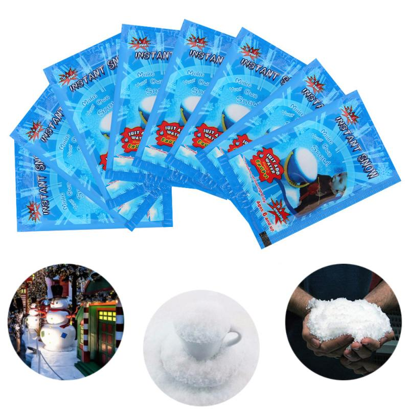 Whole Sale Christmas Fake Magic Instant Snow Fluffy Super Absorbant Decorations For Christmas Wedding Drop Shipping