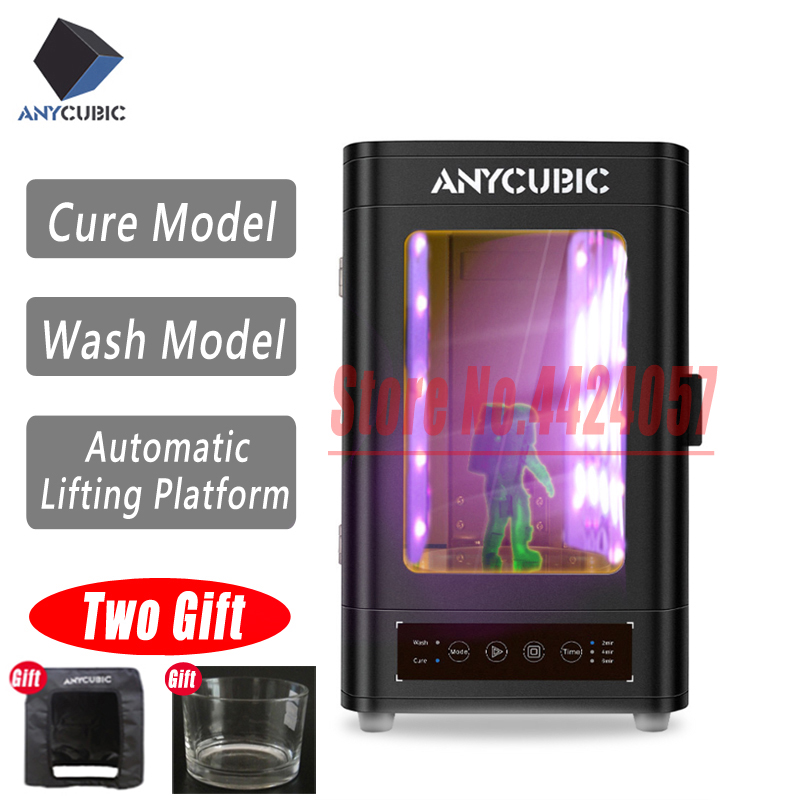 Anycubic New Uv Cure And Wash Box For Photon Photon-s All Uv Lcd/pla/sla 3D Printer Model Processing Cure & Wash Two In One