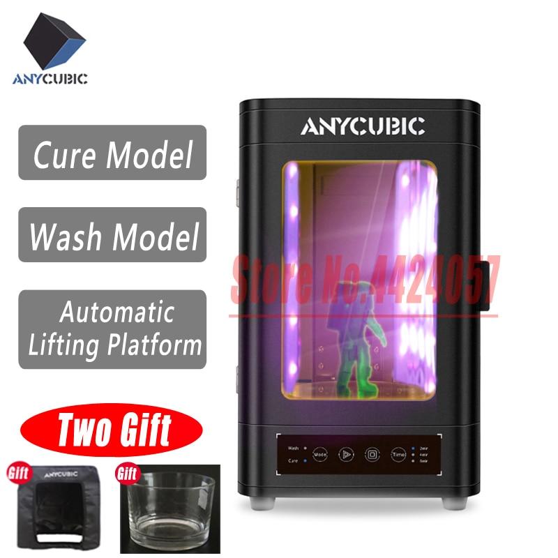 Anycubic nova caixa de cura uv e lavar para photon photon-s todos os raios uv e lcd/pla/sla 3D modelo de impressora de processamento de Cura & Wash Dois Em Um