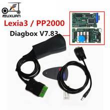 цена на Lastest Version lexia3 PP2000 Lite Diagbox V7.83 PSA XS Evolution For Ci-troen/For Pe-ugeot LEXIA-3 FW 921815C Lexia 3