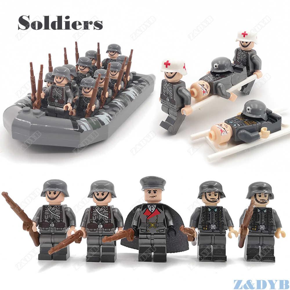 100 pçs militar ww2 mini soldado médica acessório arma arma travamento figura modelo soviético bloco de construção tijolo crianças brinquedo